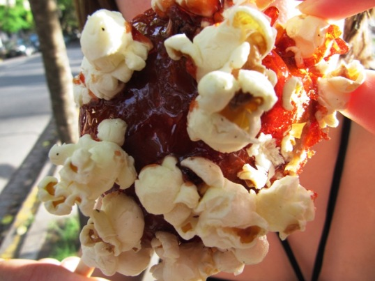 Candied Apple with Popcorn