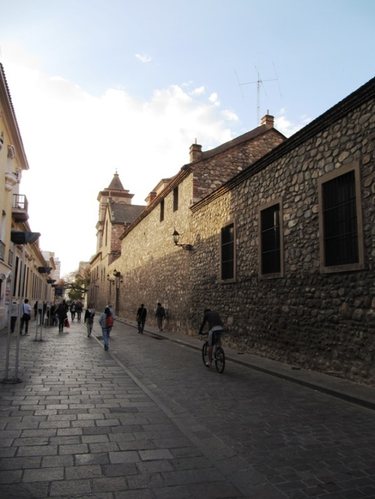 Cobbled historic street