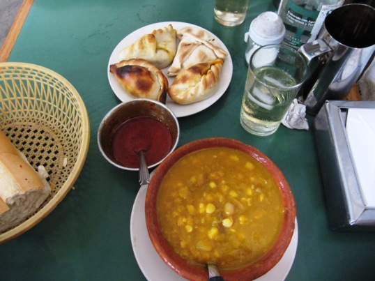 Locro and empanadas from La Candela