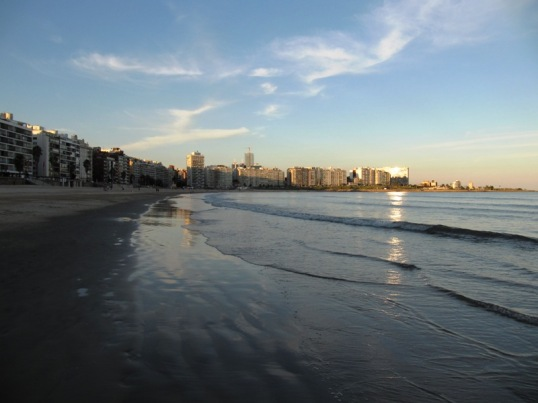 Sunset on Montevideo Beach