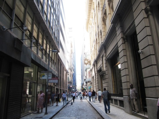 Central Rio's narrow streets