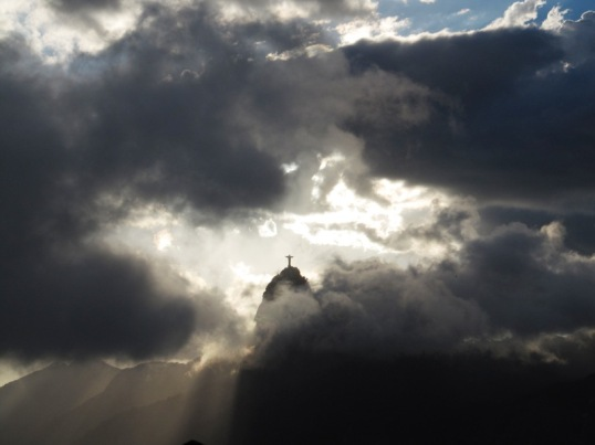 Parting of the clouds at Corcovado