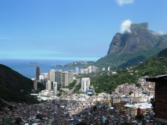 Rocinha favela from above