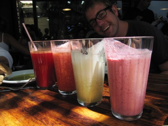Fresh juices and smoothies at Market