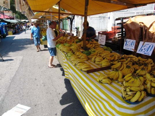 Banana stand at the farmers market