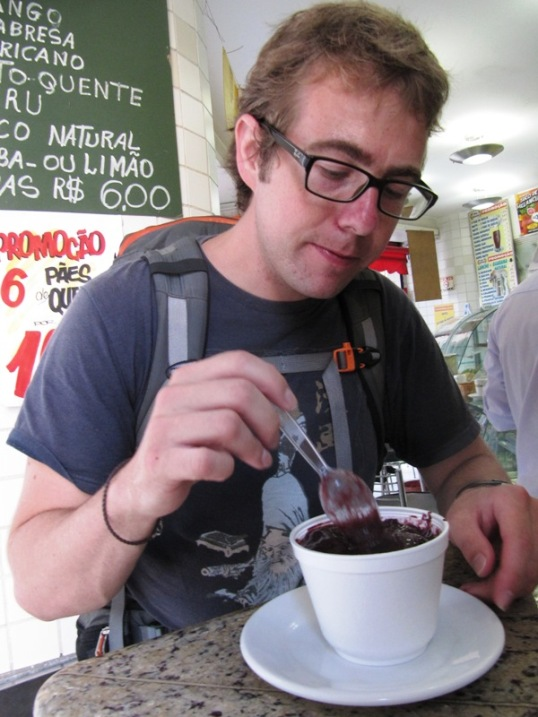Nathan loves his açai