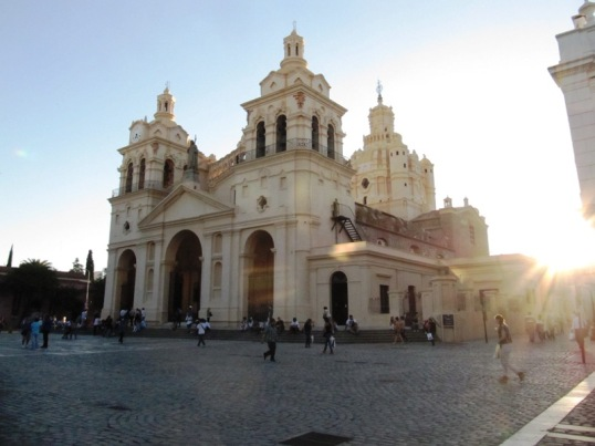Cathedral in the golden sun