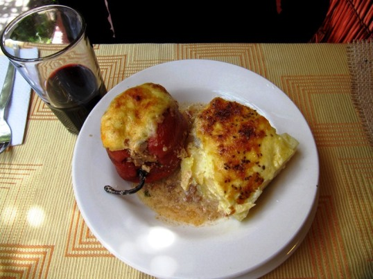 Rocoto Relleno with potatoes