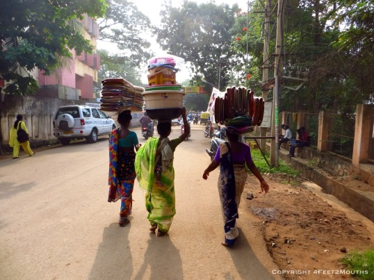 Women skillfully carrying their goods