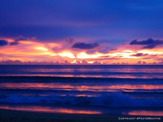 Fluorescent sunset