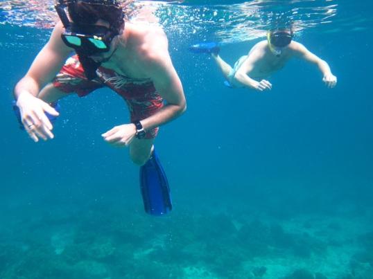 Tim and I snorkeling