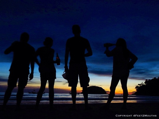 Phuket sunset silhouette