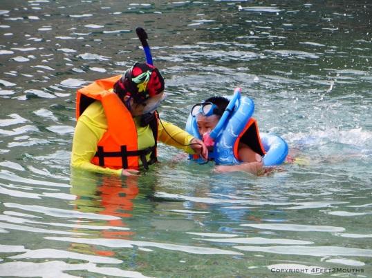 Overprotective snorkeling