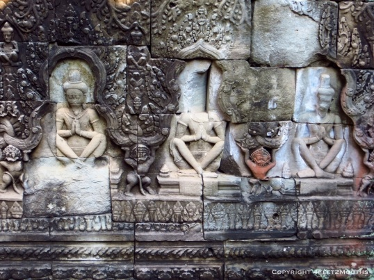 Preah Khan carved wall