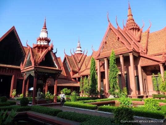 Cambodian National Museum garden
