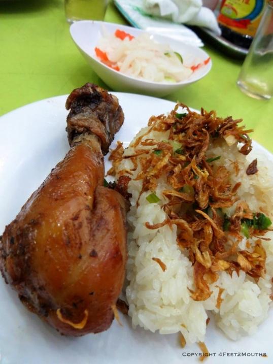 Fried chicken and garlic rice