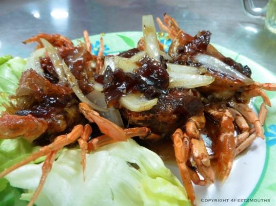 Soft shell crab in tamarind sauce at Quan 94