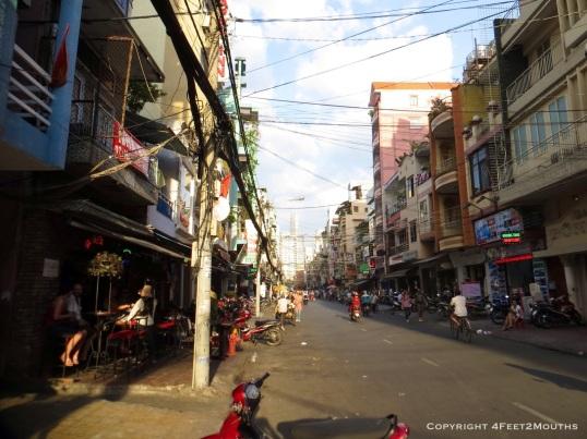 Street scene in the Pham Ngu Lao