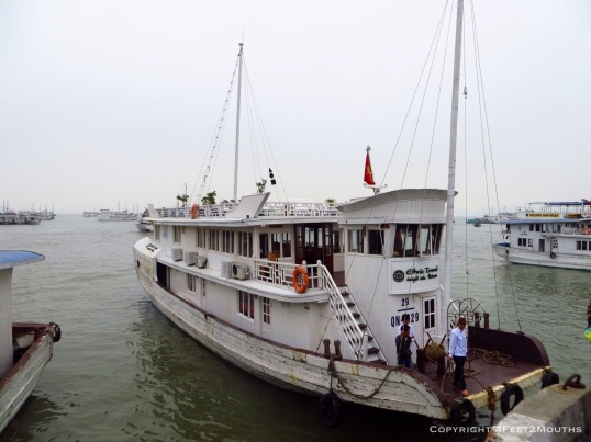 Our Halong Bay boat for sleeping, eating and sightseeing