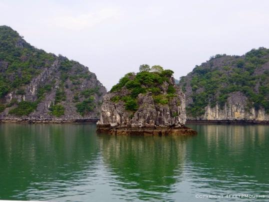 Small limestone island