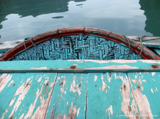 The textures and colors of our row boat