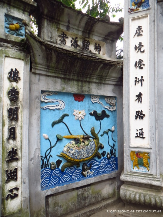 Legendary turtle at the Ngoc Son Temple