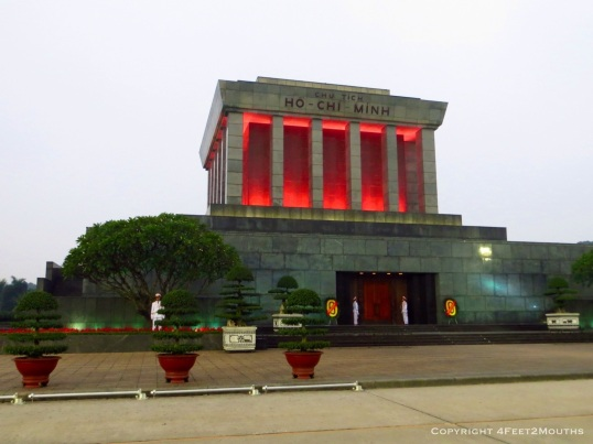 Ho Chi Minh's body is embalmed here