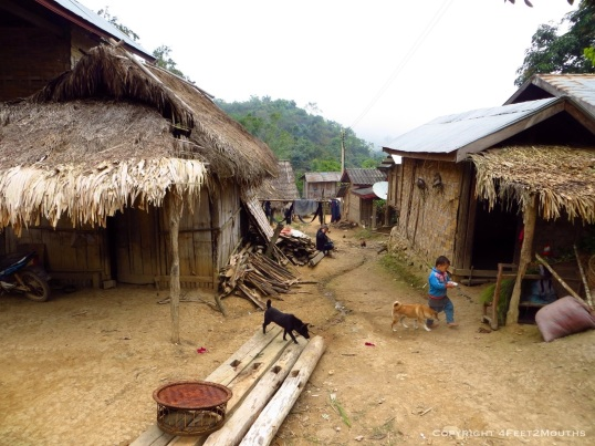 Village street of Nam Khone