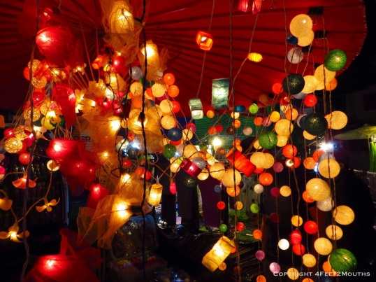 Night market lanterns