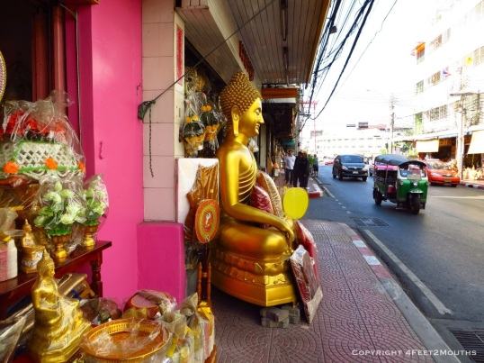Roadside golden Buddha