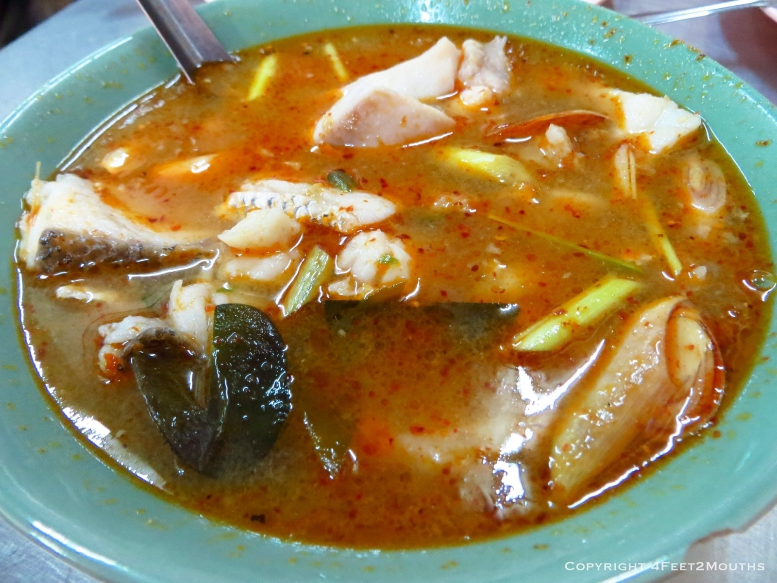 One night in bangkok by nathan 4 feet 2 mouths for Thai fish soup