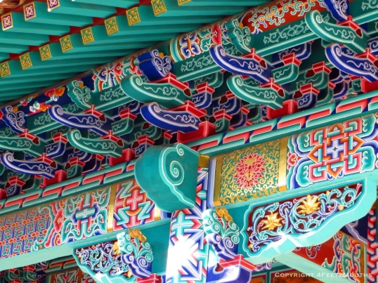 Intricate Chinese decorative painting
