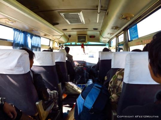 Small bus between Yunnan towns