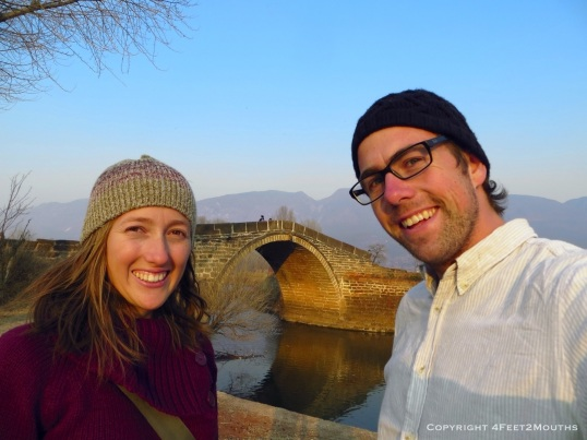 Five hundred year old bridge over the Heihui river