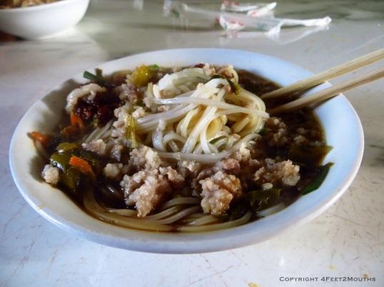 Breakfast beef noodles