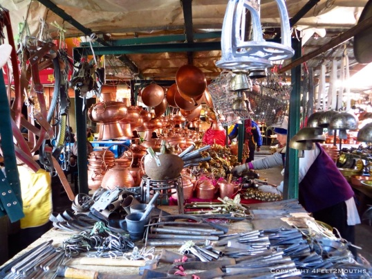 Metal goods at the market