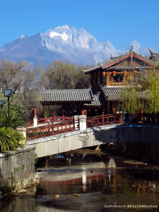 Jade Dragon Mountain viewed from the new public square