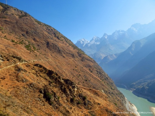 The enormous entrance into Tiger Leaping Gorge