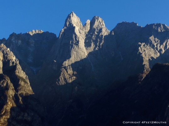 Stark peak of Jade Dragon Snow Mountain at 5600m high