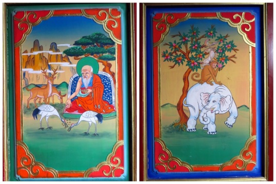 Examples of the paintings of morals and religious stories