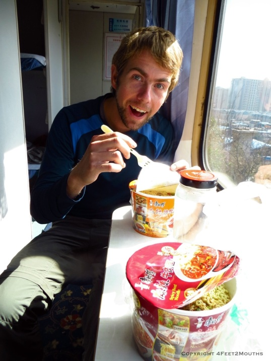Nathan and his instant noodles