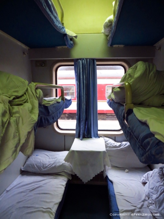 Bunks on the train
