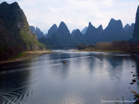 The wide Yulong River