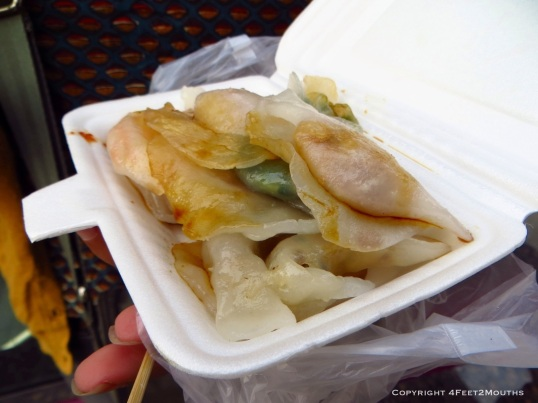 Street side vegetarian dumplings