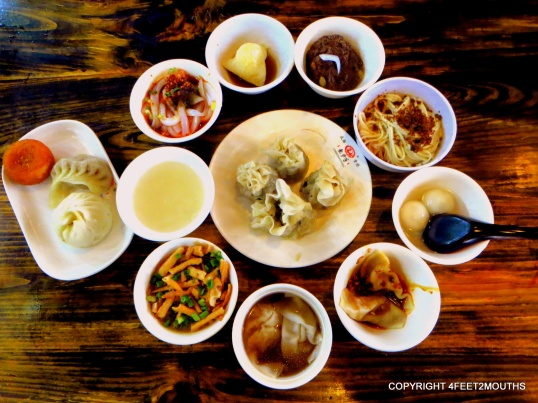 Sichuan snack sampler set (xiao chi tao can) at Long Chao Shou restaurant