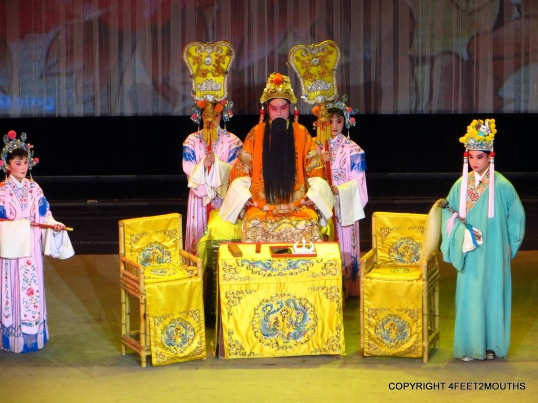 The regal court in the Chinese opera