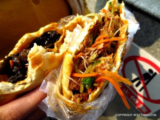 Sichuan street sandwiches