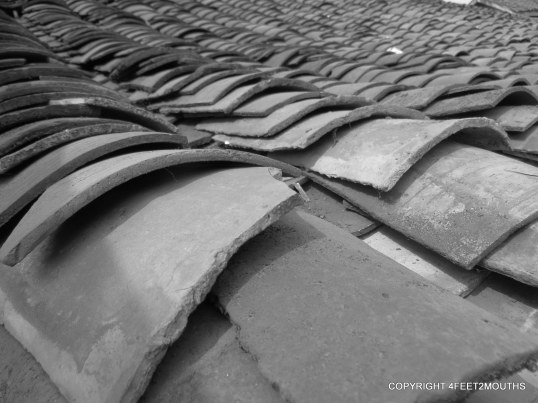 Roof tiles in town