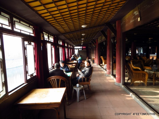 Interior of the Wángyé Temple Tea House