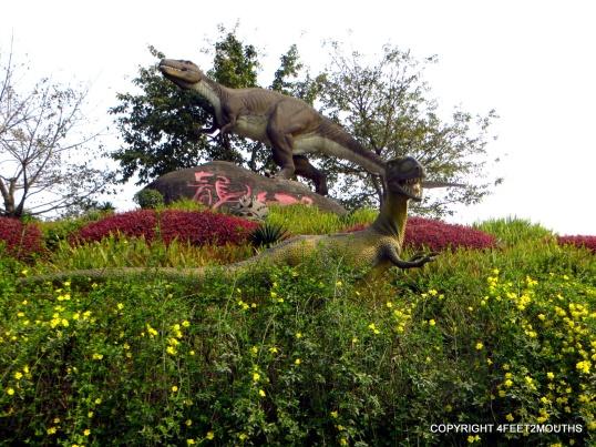 Zigong dinosaur museum and the szechuanosaurus